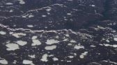 polar regions : Aerial view of Ice in the Arctic Ocean in Northern Canada. Stock Footage