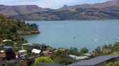 christchurch : Landscape of Lyttelton harbour, New Zealand. It is a very popular travel destination in the South island of New Zealand