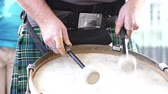 classic : Hands of a Scottish man drummer drumming the drums.