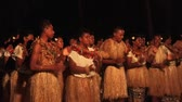 gelenek ve görenekler : Indigenous Fijian people sing and dance a traditional Fijian dance. Real people copy space