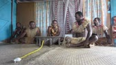 gelenek ve görenekler : Indigenous Fijians men participate in traditional Kava Ceremony in Fiji. The consumption of the drink is a form of welcome and figures in important socio-political events.