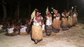gelenek ve görenekler : Indigenous Fijian women dancing the traditional Meke female dance, the fan dance. Real people