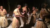 gelenek ve görenekler : Indigenous Fijian men dancing the traditional meke wesi male dance. Real people