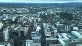 skytower : Urban aerial view of Auckland city. Auckland is the biggest and most populated city in New Zealand.