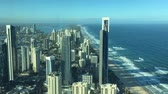 Aerial urban time lapse landscape view of Surfers Paradise skyline in Gold Coast Queensland, Australia. Vídeos