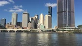Urban landscape view of Brisbane city downtown skyline in Queensland Australia