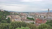 4K Aerial View of Florence Cityscape with Palazzo Vecchio and Cathedral of Santa Maria del Fiore.