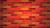 Color brick wall Stock Footage