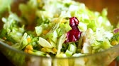 de baixa caloria : fresh salad of young cabbage with sweet corn