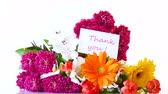 gerbera : beautiful bouquet of different flowers on white background