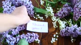 Лилли : Beautiful spring flowers lily of the valley and lilac flowers