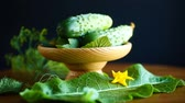 herb : fresh green cucumbers