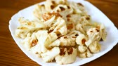 paleo : cauliflower, cooked without butter on the grill