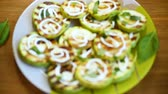 grilled zucchini slices with garlic and spices