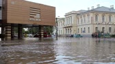 heavy : Tulcea Romania  September 13 2013: European city flooded after a heavy rain