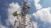 Communication tower Zeitraffer Stock Footage