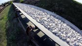 metalurgia : Fisheye of a long conveyor belt transporting stones to the manufacturing plant about 5 miles away.
