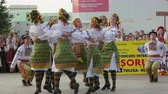 ethnology : TULCEA, ROMANIA - AUGUST 08: Ukrainian traditional dance at the International Folklore Festival for Children and Youth Golden Fish on August 08, 2016 in Tulcea, Romania