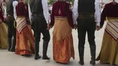 ethnology : TULCEA, ROMANIA - AUGUST 08: Greek traditional dance at the International Folklore Festival for Children and Youth Golden Fish on August 08, 2016 in Tulcea, Romania