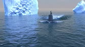 recon : Computer generated submarine travelling on the surface of the Arctic ocean