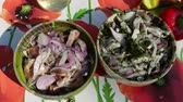 ringa : Marinated shad salad with onion and dill