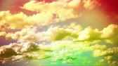 wispy : beautiful colorful cloudy footage representing the natural feeling. Stock Footage