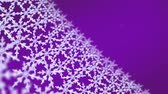 kar taneciği : Ice crystal snowflakes of overlay background for Christmas celebration theme Stok Video