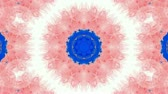 watercolor : Animation of pink flower lotus pattern,orient watercolor style fancy.Buddhism Mandala flower,kaleidoscope,oriental religion texture.