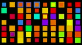 array : Colored square matrix flashing like disco lights. Stock Footage