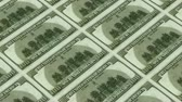 america : back of 100 dollar bills,Printing Money Animation. Stock Footage