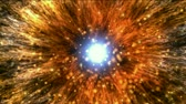 solar energy power : galaxy and cluster explosion in space,flying through black hole tunnel,power energy release,spectacular science fiction scene.