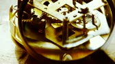 timekeeping : Magnifying glass to enlarge internal structure of Watch,bearings,gears.