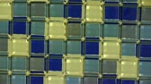 glass : Panoramic of Mosaic wall.