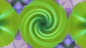 ipomoea : morning glory deformation rotation swirl pattern in lush leaves.agriculture farmland at rural.   Stock Footage
