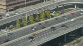intersection : Aerial view of overpass traffic at an urban city.