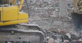 crane : excavator working  dumper truck on construction site,china. Stock Footage