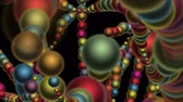 ovule :  Abstract 3d biology metal sphere balls background,earthworm,bacteria worm spores microbiology,split fractals art backdrop.