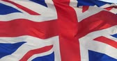 база : Britain flag is fluttering in wind. Стоковые видеозаписи