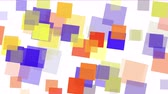 abstract : Square fragment mosaic paper debris background,abstract rectangular particle art.