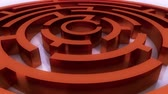 questões : rotating red metal maze,abstract business & tech background. Stock Footage