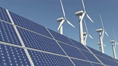 Solar panels & Wind power,green free clear energy.