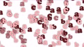 article : Alphabet abc cartoon letters character words,childrens education learning language data information passwords particle background. Stock Footage