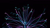 sparkler : 4k Abstract particles fiber optic cable fireworks lines space background.