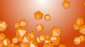 izometrik : 4k Abstract 3d polyhedron space diamonds gems ores crystals candy particle design technology art background.