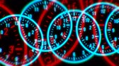 numerais : 4k Circle round digit time clocks & digital wheels background,trade finance channel,stopwatch space,contests competition tunnel,mystery focus backdrop. Vídeos