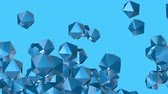 astarlı : 4k Abstract 3d polyhedron space diamonds gems ores crystals candy particle design technology art background.