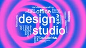 kırtasiye : Design Studio Animated Word Cloud,Text Design Animation.