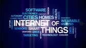 сложный : 4k Internet Of Things Animated Tag Word Cloud,Text Design Animation.