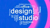 creativeness : Design Studio Animated Word Cloud,Text Design Animation.