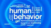 wŚciekŁy : Human Behavior Animated Tag Word Cloud,Text Design Animation. Wideo